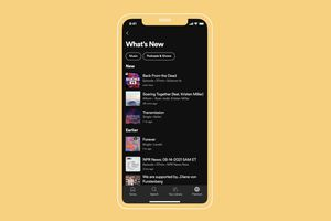 Spotify What's New list