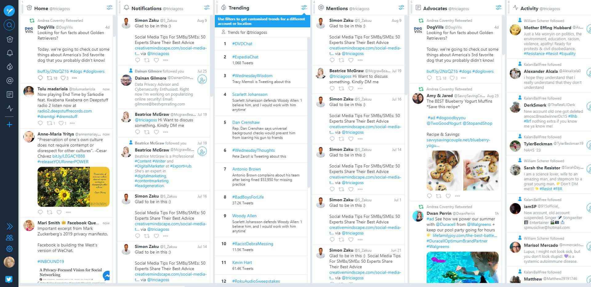 TweetDeck website