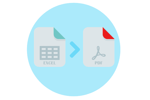 Illustration of an Excel to PDF conversion