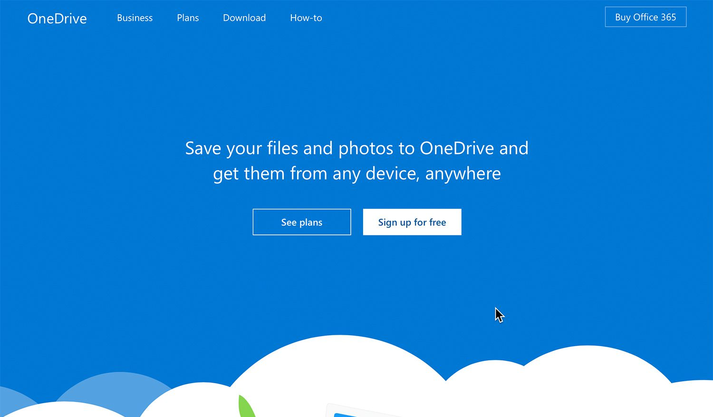 Microsoft One Drive cloud storage
