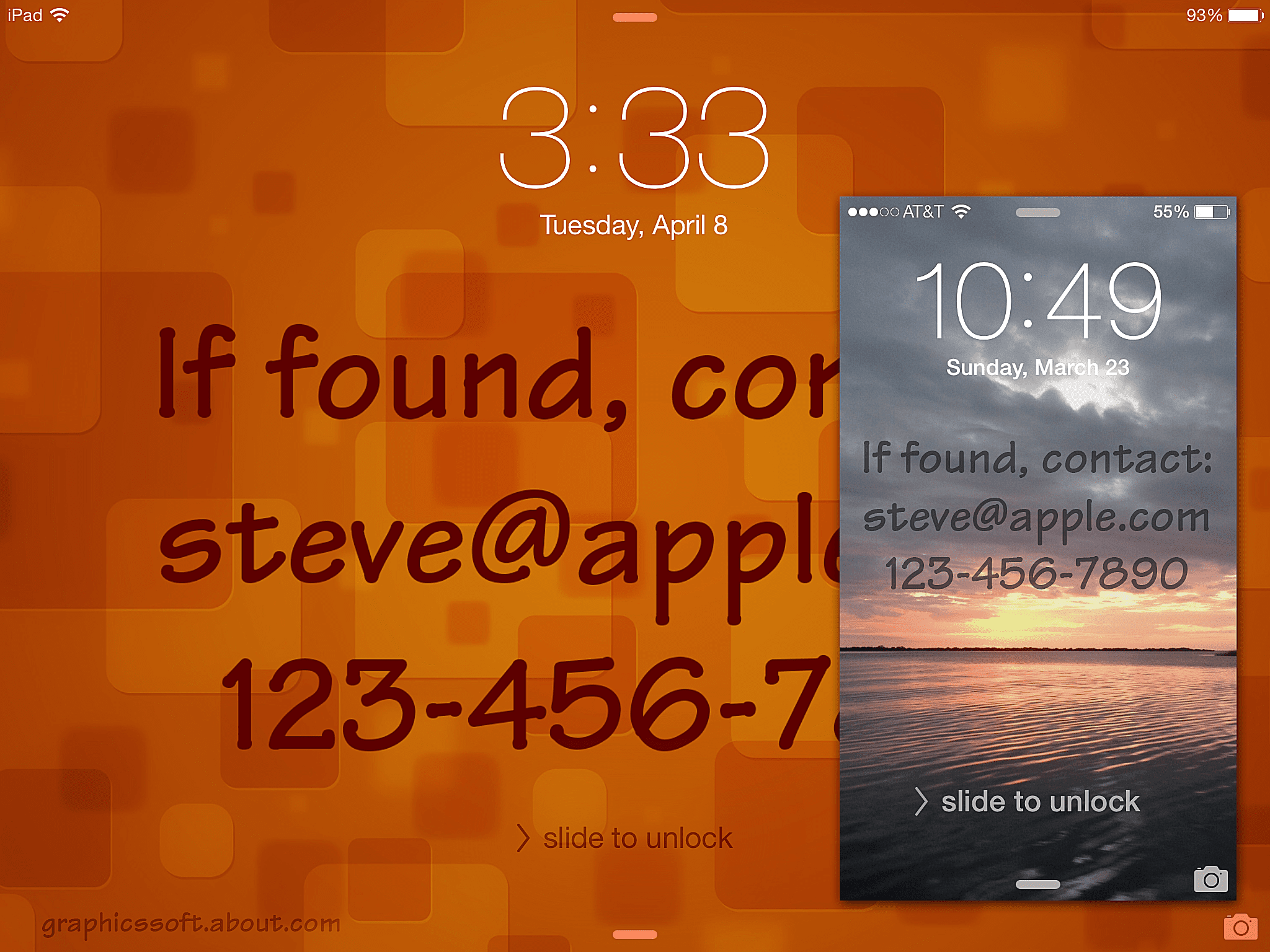 How To Put Contact Info On Your IOS Lock Screen Wallpaper