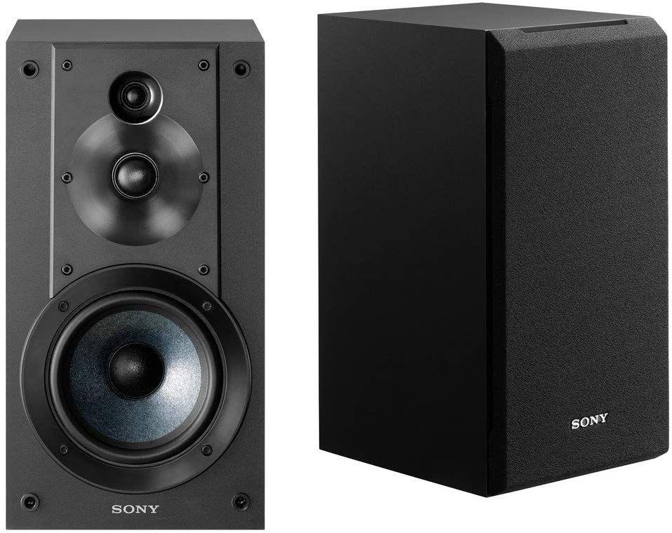Sony SSCS5 3-Way 3-Driver Bookshelf Speaker System (Black)