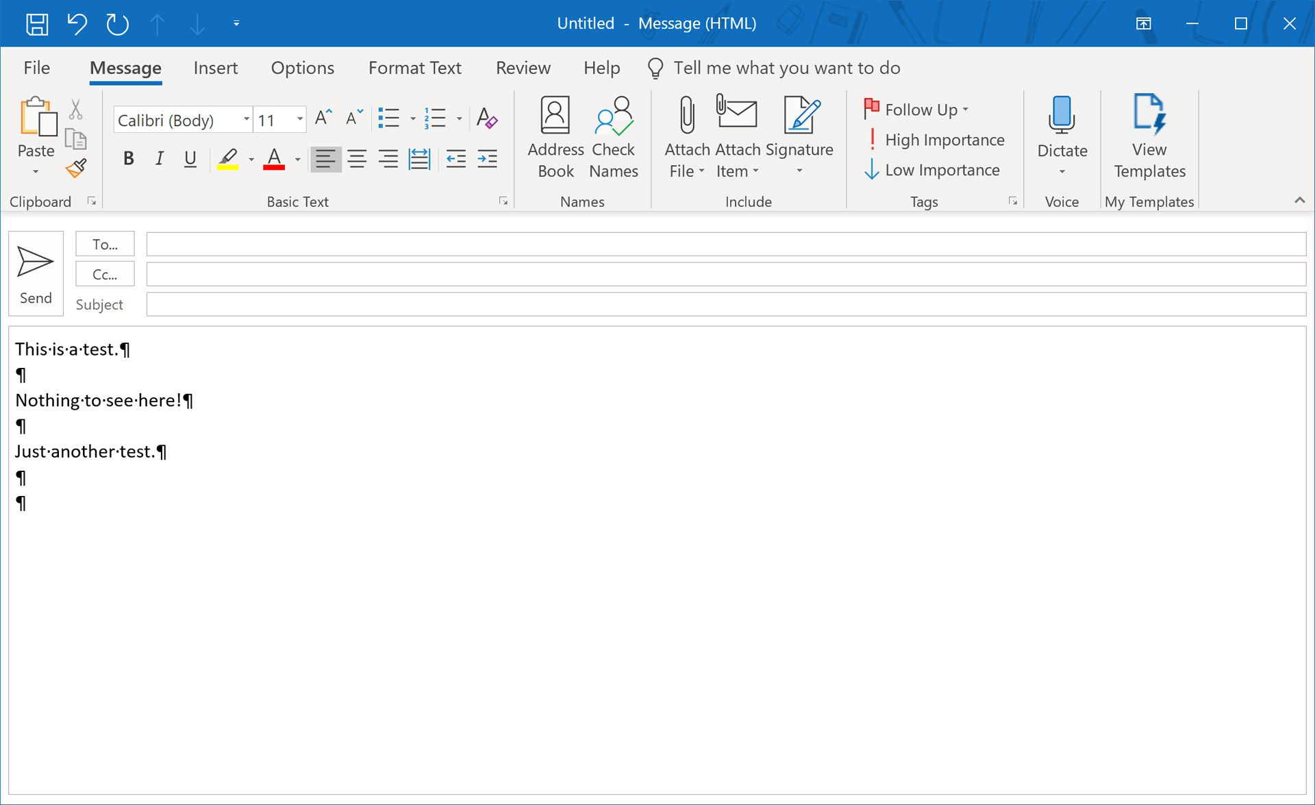 How to Remove Paragraph Symbols in Outlook