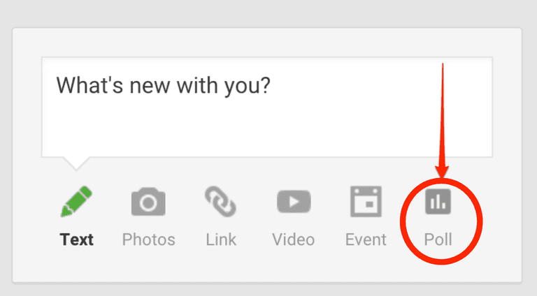 How to create a poll in Google+