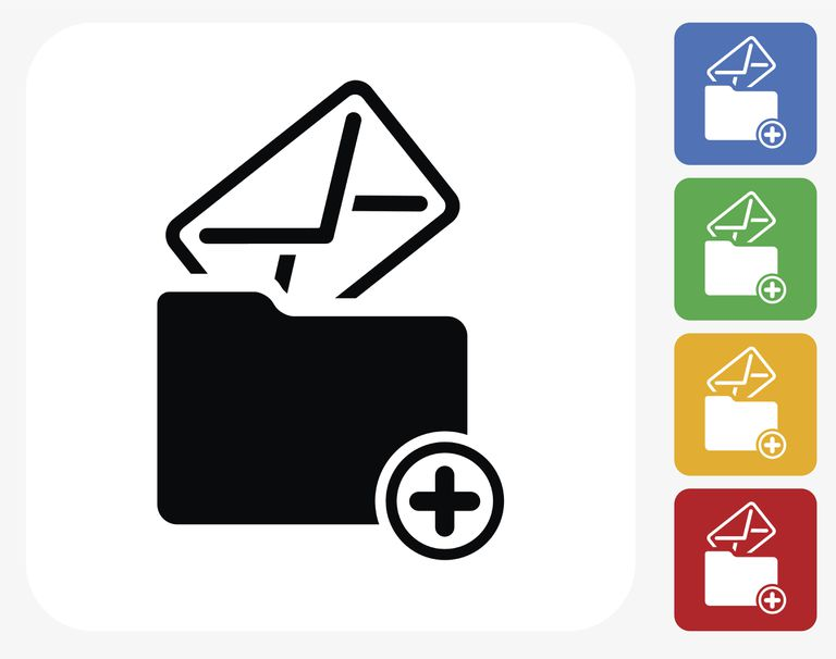 Flat design example in an email icon