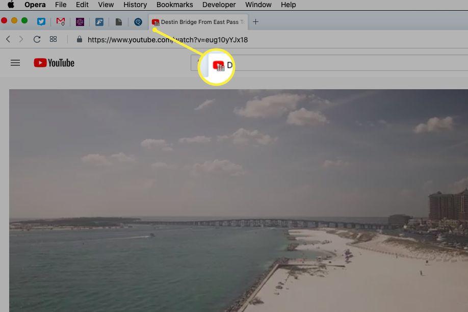Animated speaker icon on Opera tab