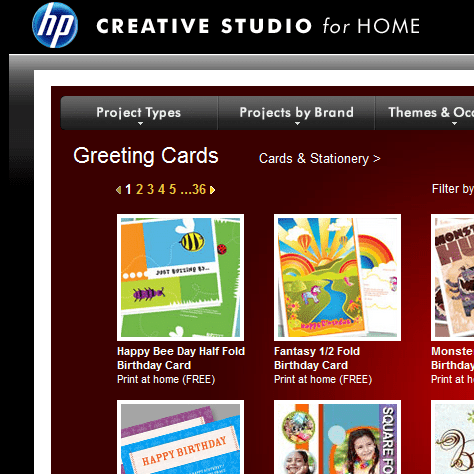 HP Creative Studio For Home Greeting Cards