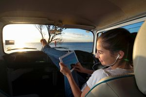 listening to internet radio on the road