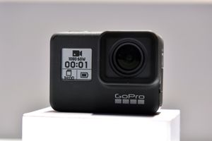GoPro action camera display.