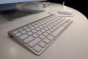 Mac keyboard with iMac