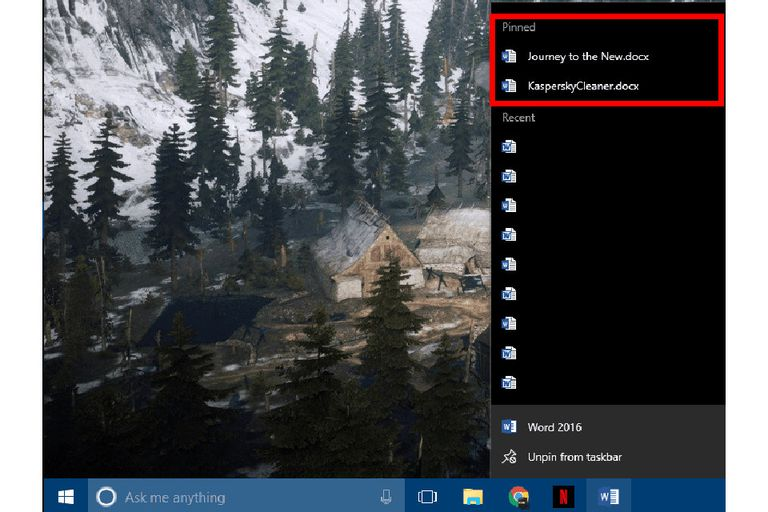 Windows 10 Taskbar screenshot