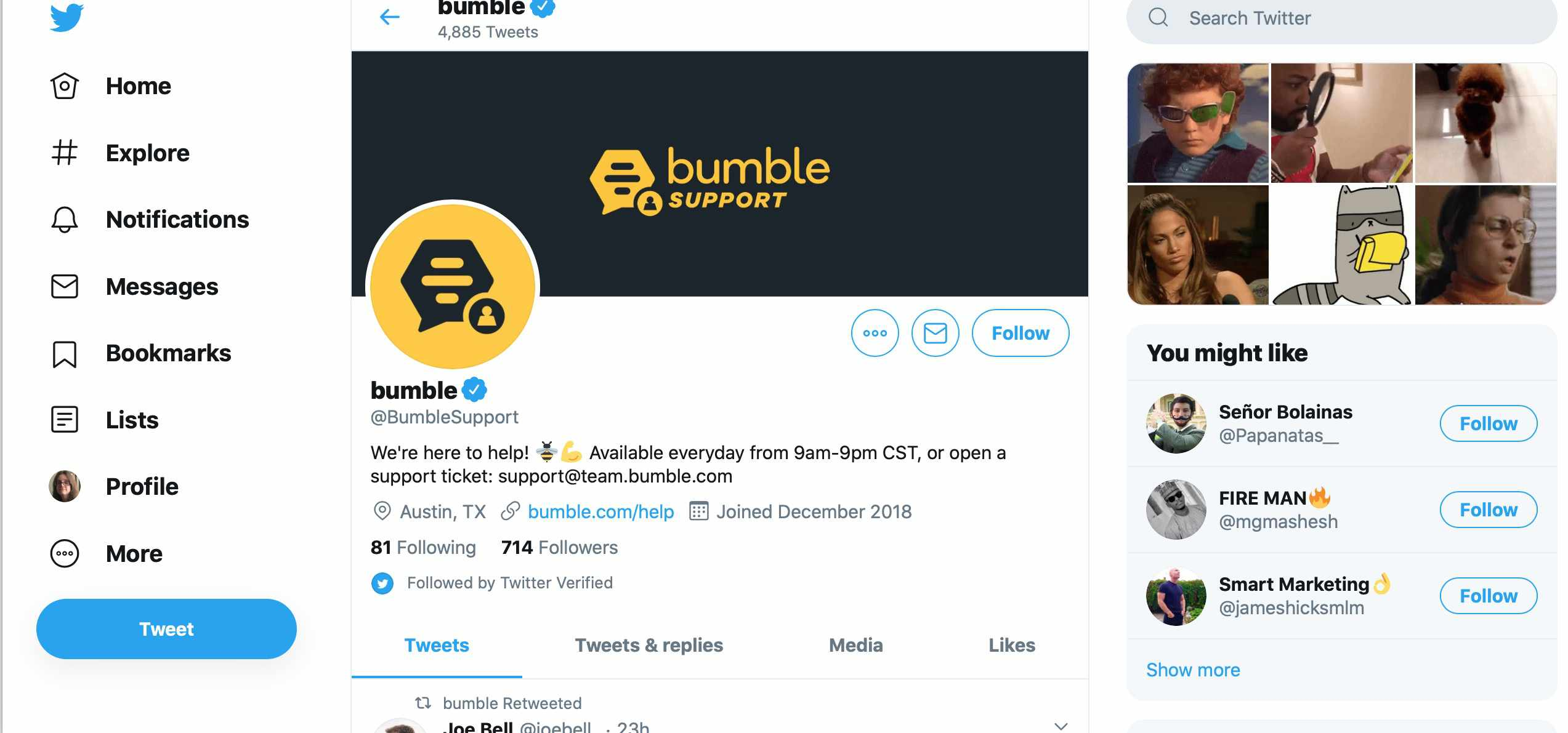 Is Bumble Down Or Is It You