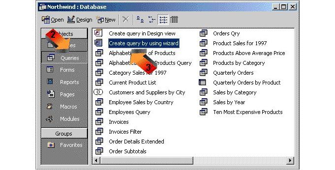 how to create a simple query in microsoft access 2000