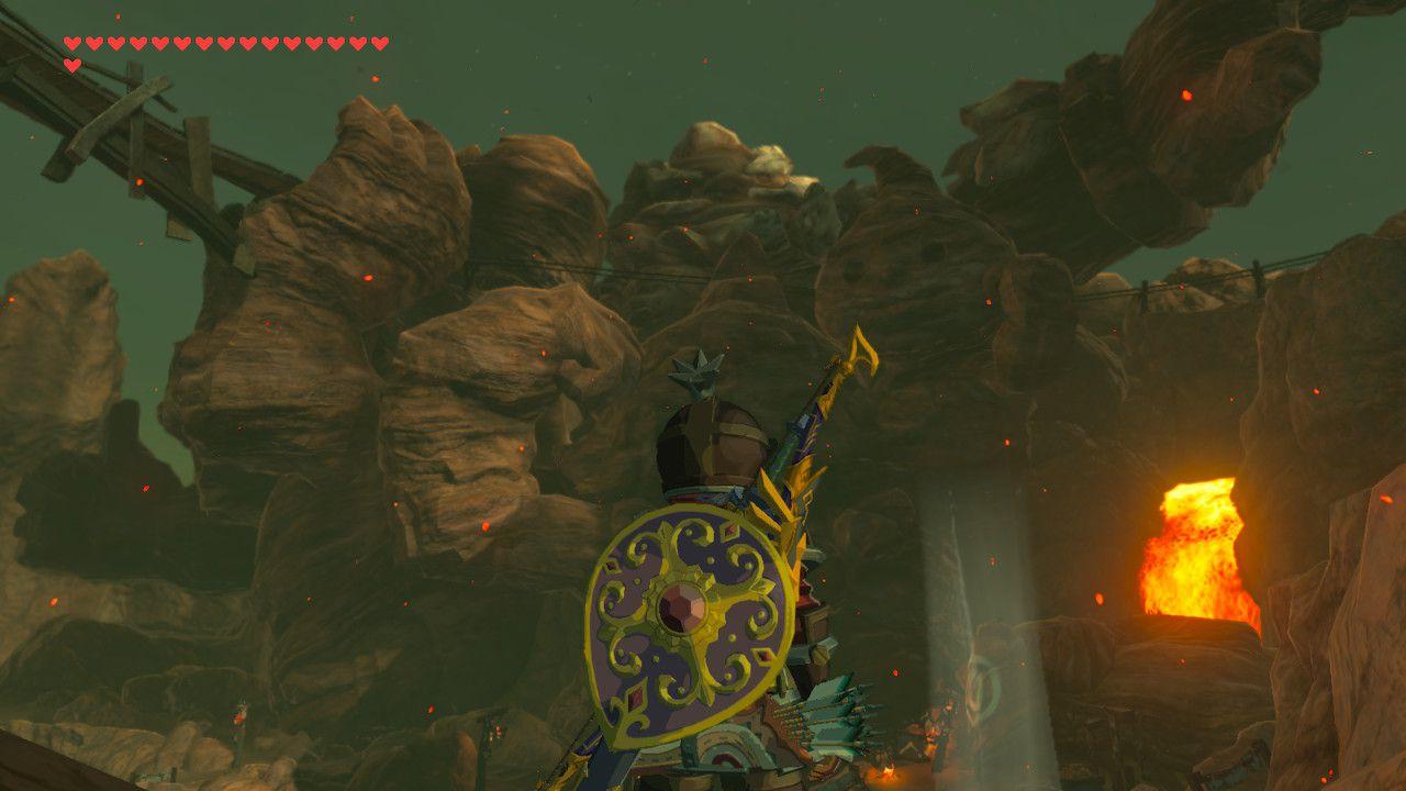 Finding Daruk's Mettle memory in The Legend of Zelda: Breath of the Wild.