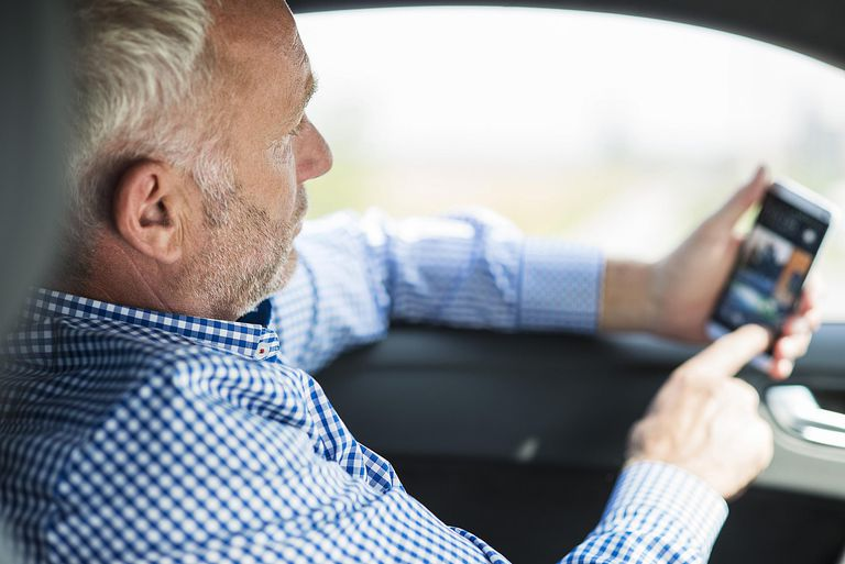 Using Mobile Phone in Car