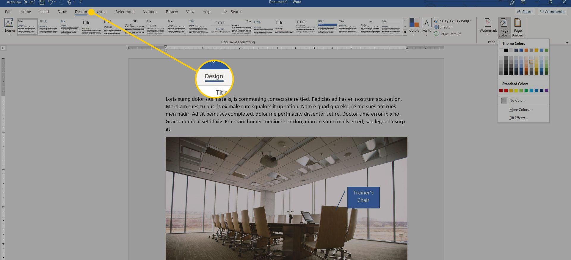 Change The Display Color In Word