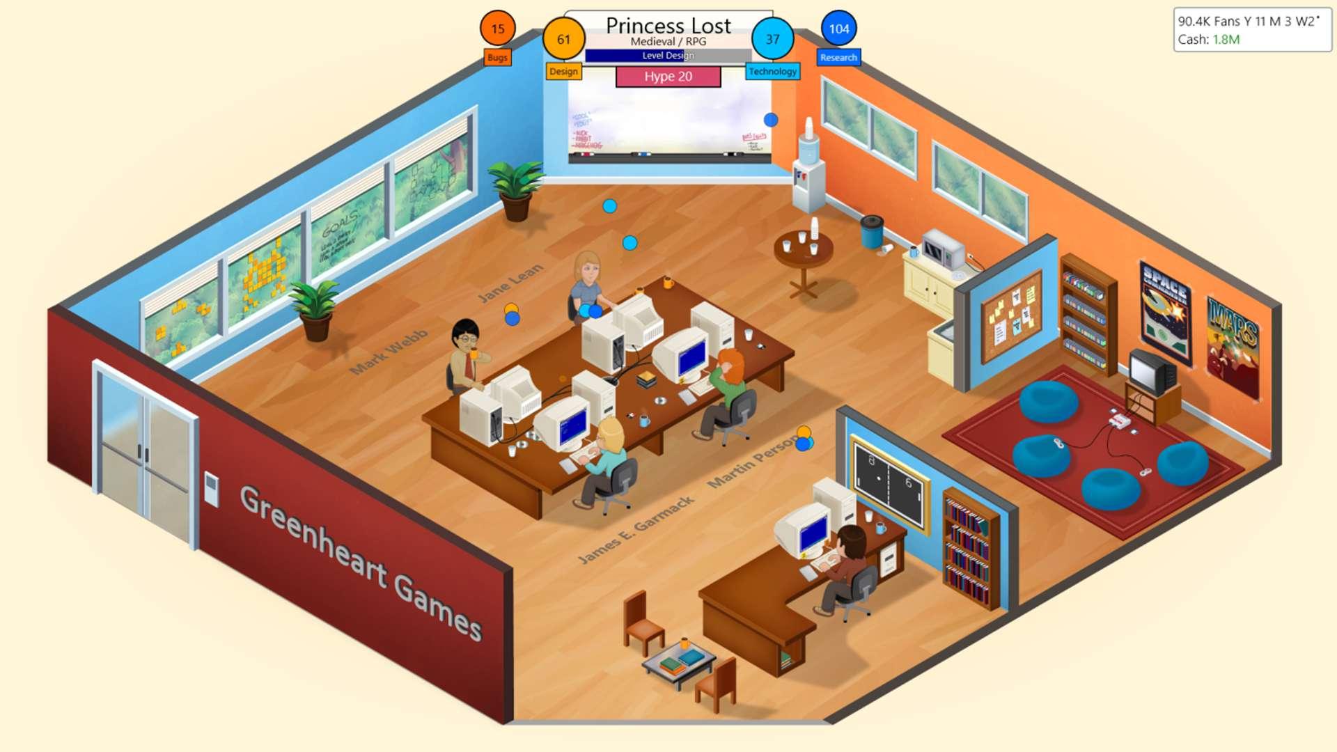 Game Dev Tycoon offline sim strategy video game.