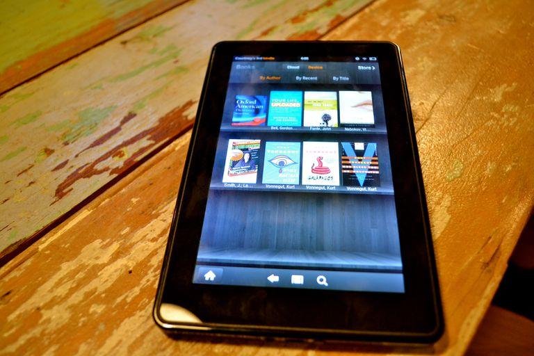 Kindle Fire on tabletop