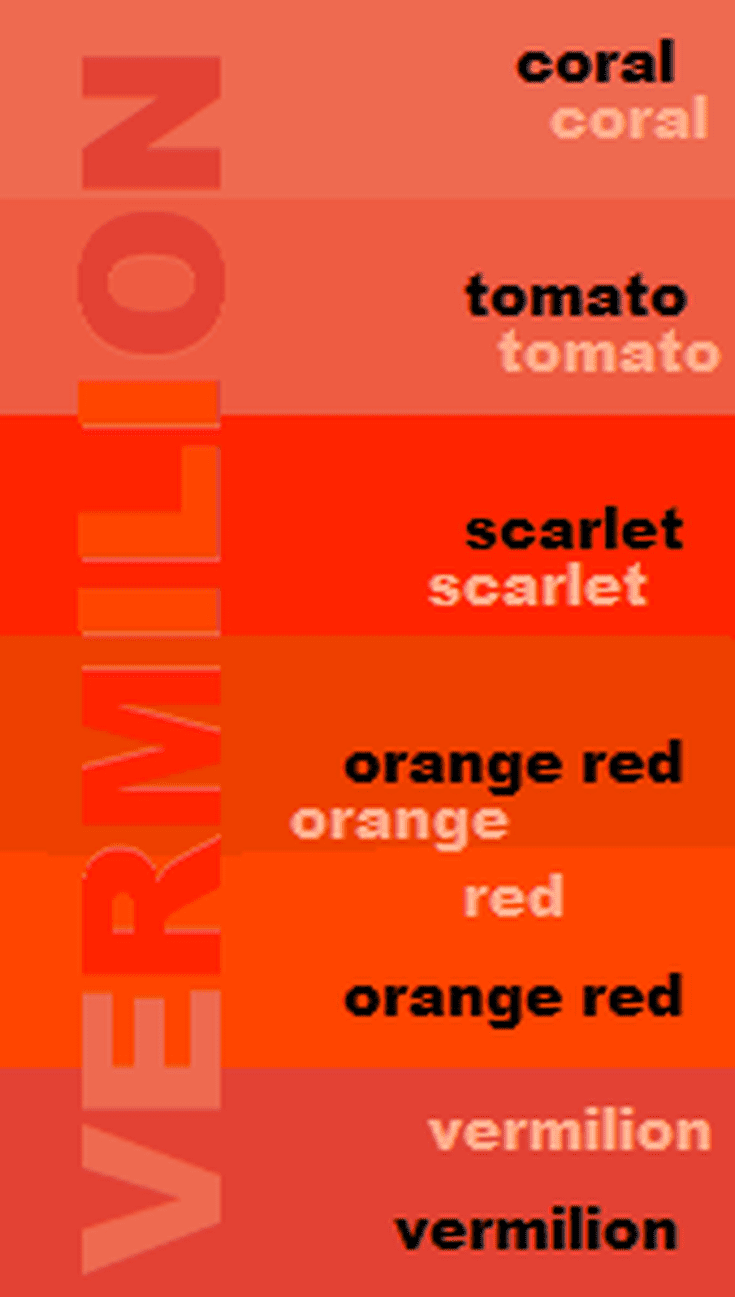 What Color Is Vermilion And What Does It Symbolize
