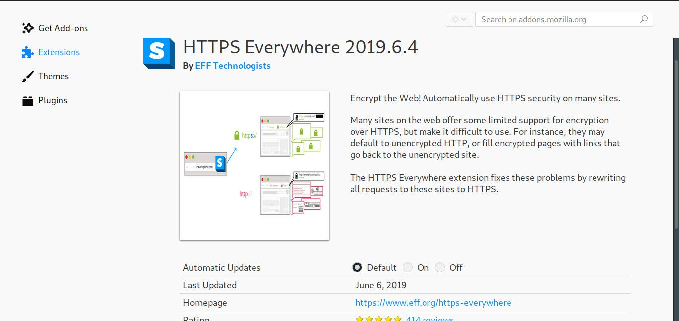 HTTPS Everywhere browser extension