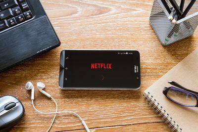 A screen shot of the Netflix app open on a phone.