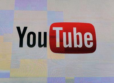 YouTube logo on computer screen