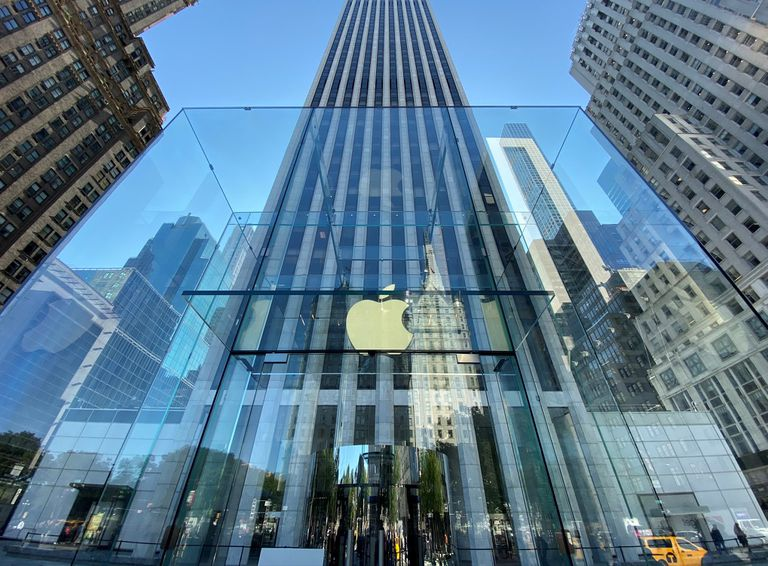 Front entrance to the Apple Store Fifth Ave. New York