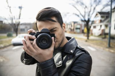 A photographer snapping a photo.