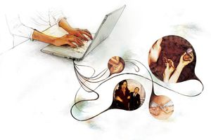 Blogging content illustration