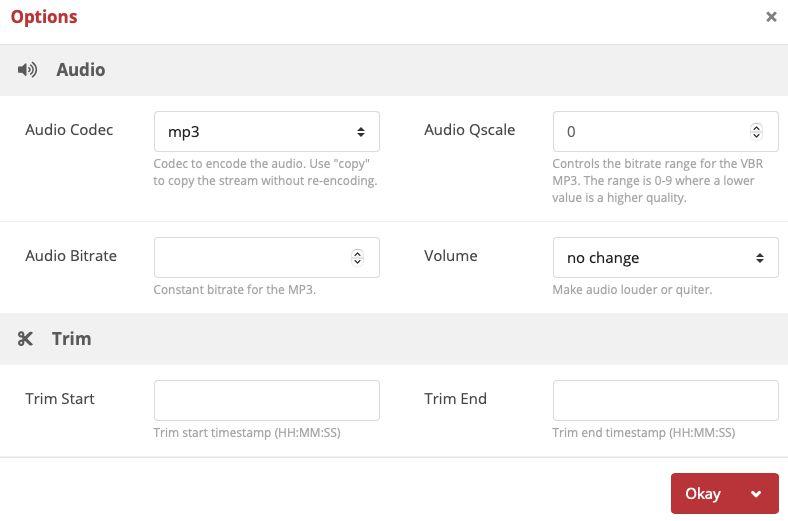 Optionally select file options