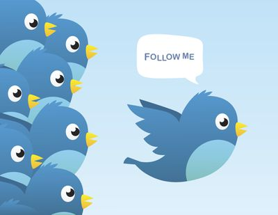 Illustration of a Twitter bird saying