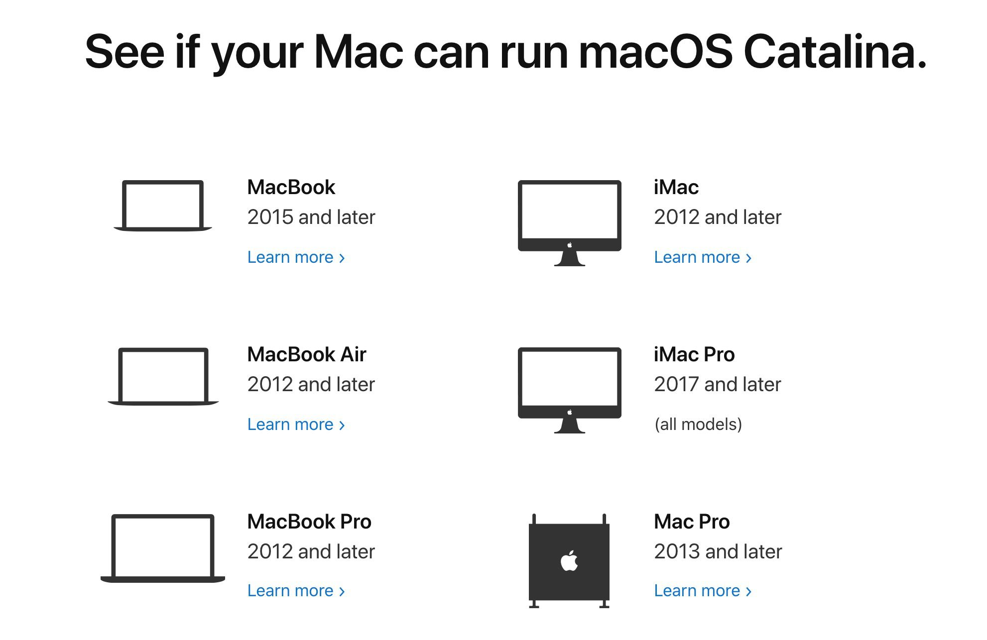 See if your Mac can run macOS Catalina