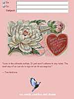 Peony Valentine's Day IncrediMail Letter