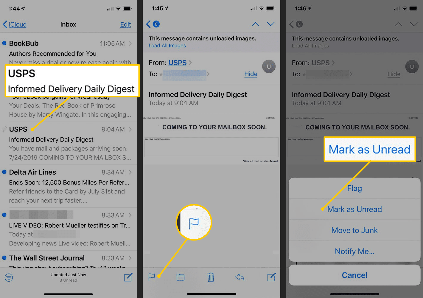 How to Mark Email Unread in iPhone Mail