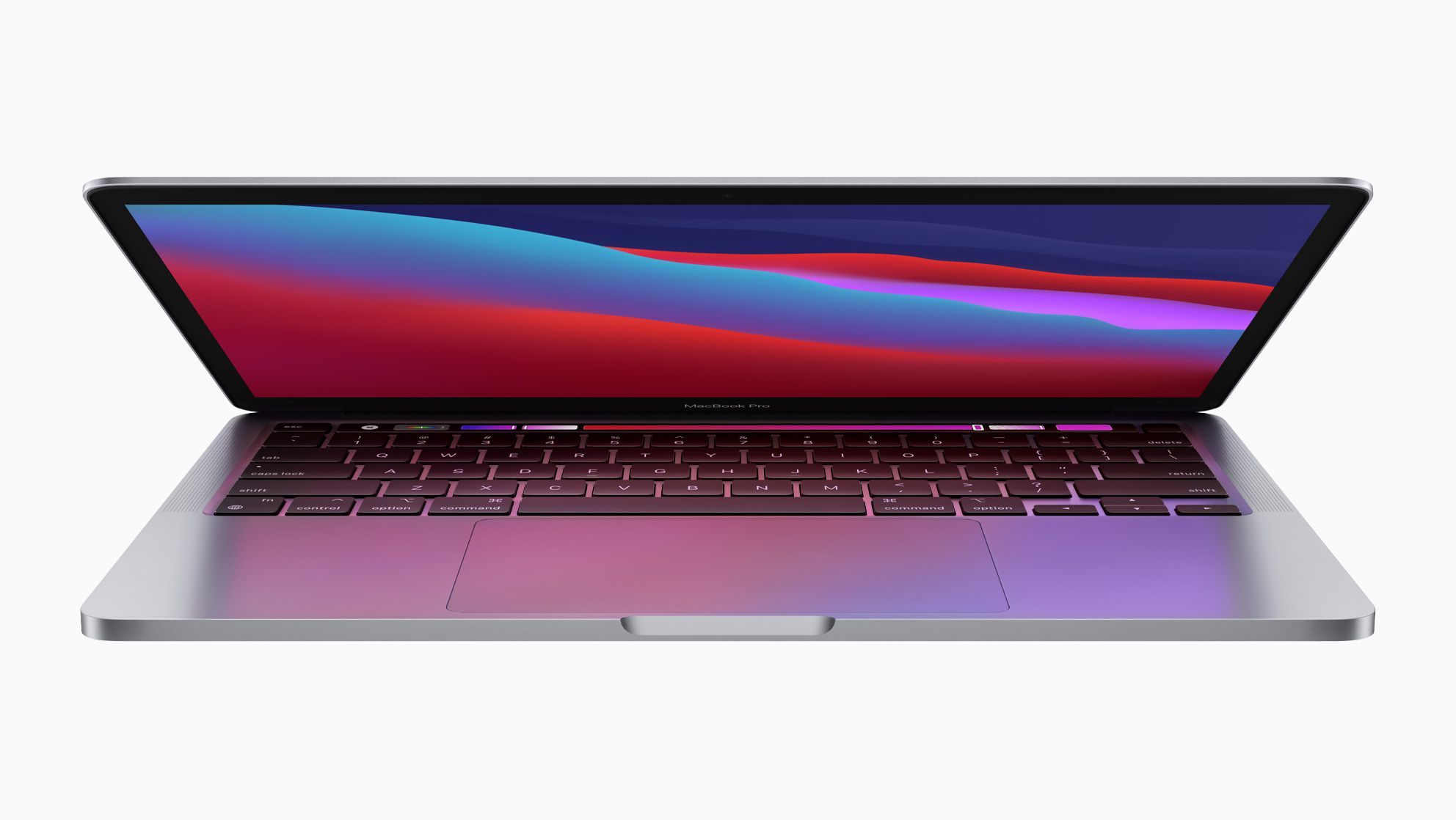 Apple's new M1-powered MacBook Air partially open