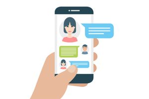 Illustration of a messaging app