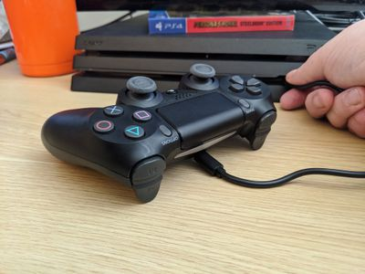 A PS4 controller that won't charge in front of a PS4.