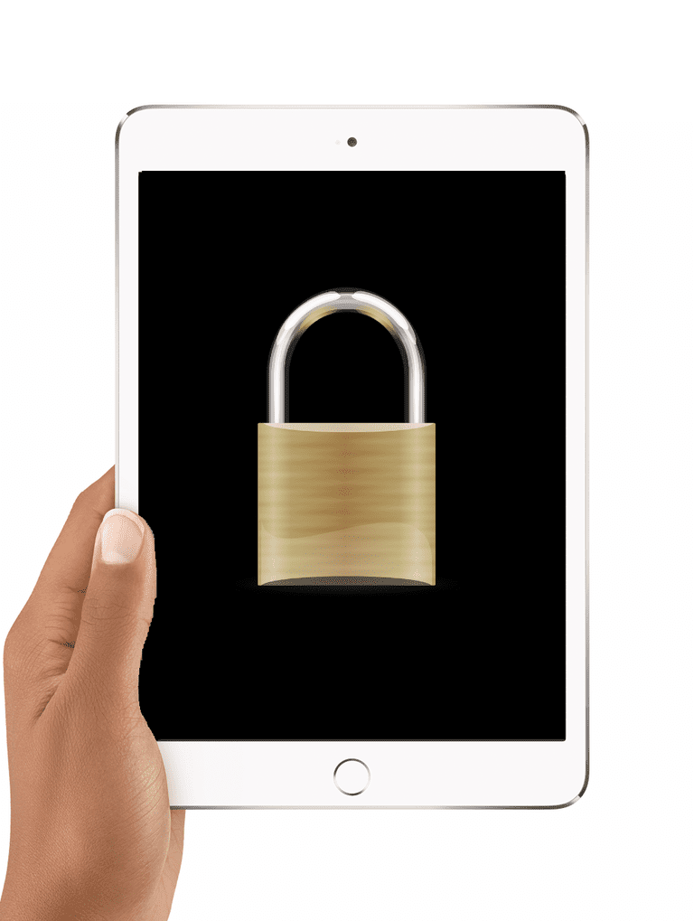 Lock icon on iPad