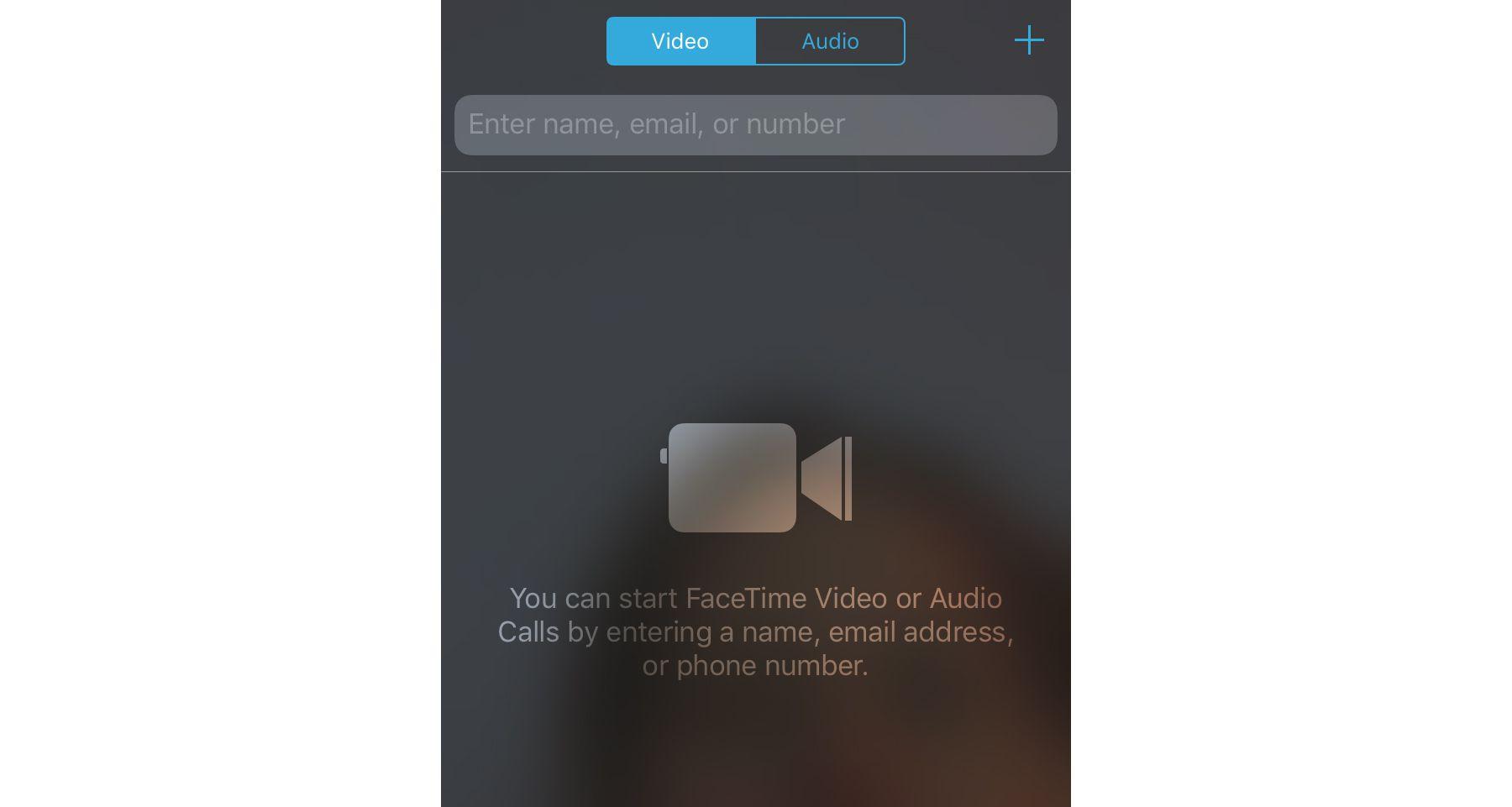 Facetime video