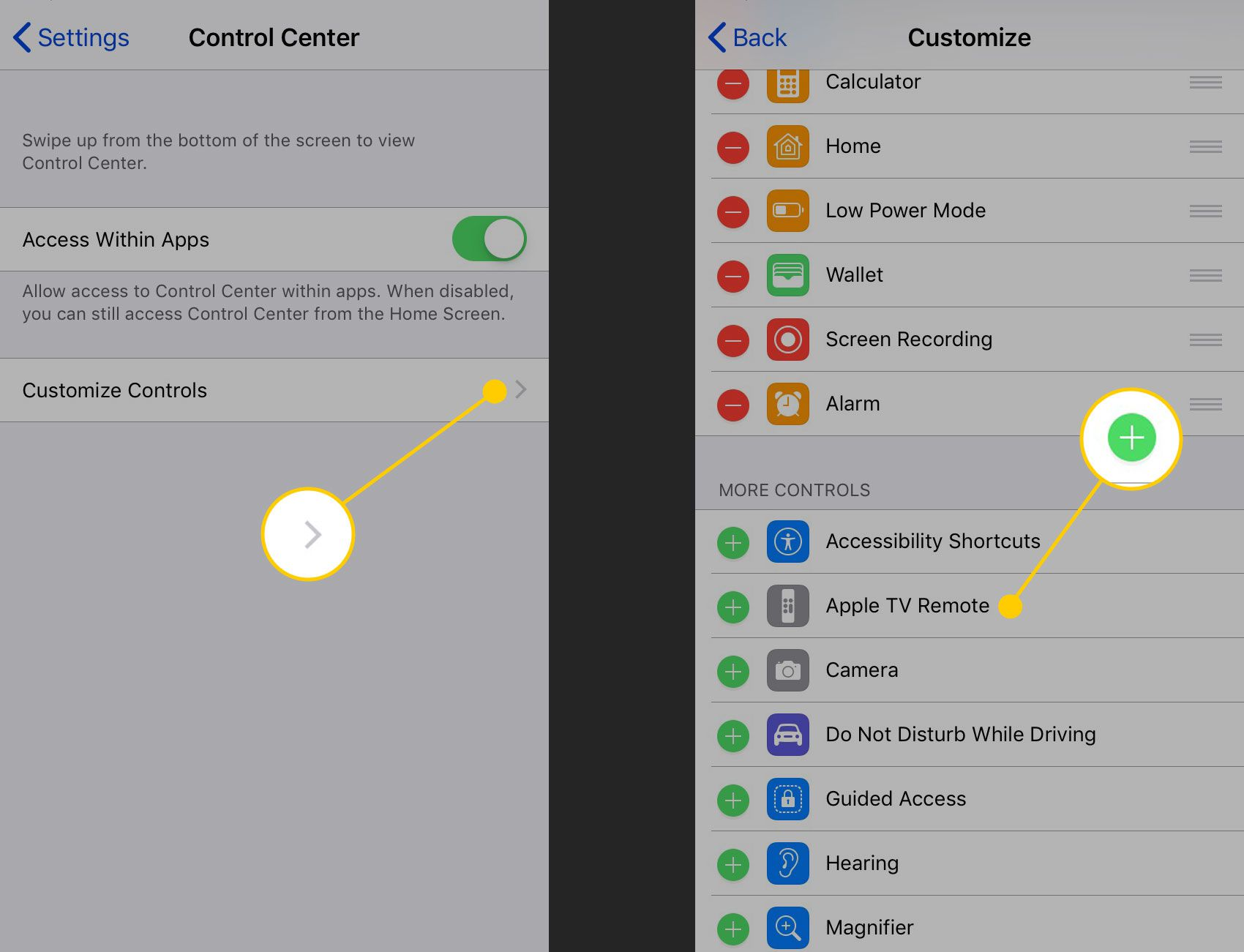 How to Control Apple TV with iPhone Control Center