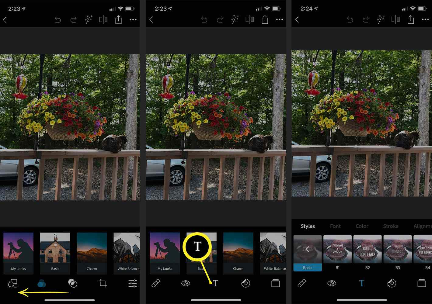 Photoshop Express app on iPhone