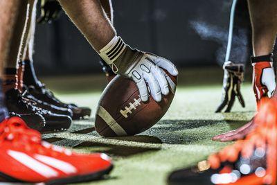 American football game in progress