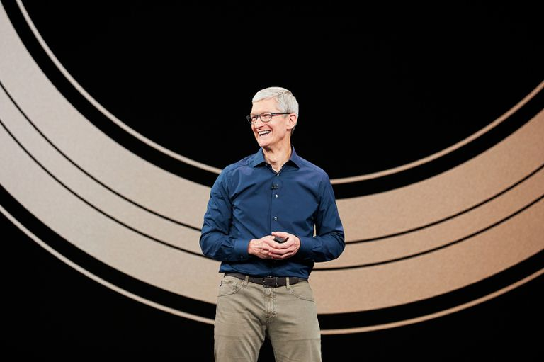 Tim Cook at the September 2018 iPhone/Apple Watch event