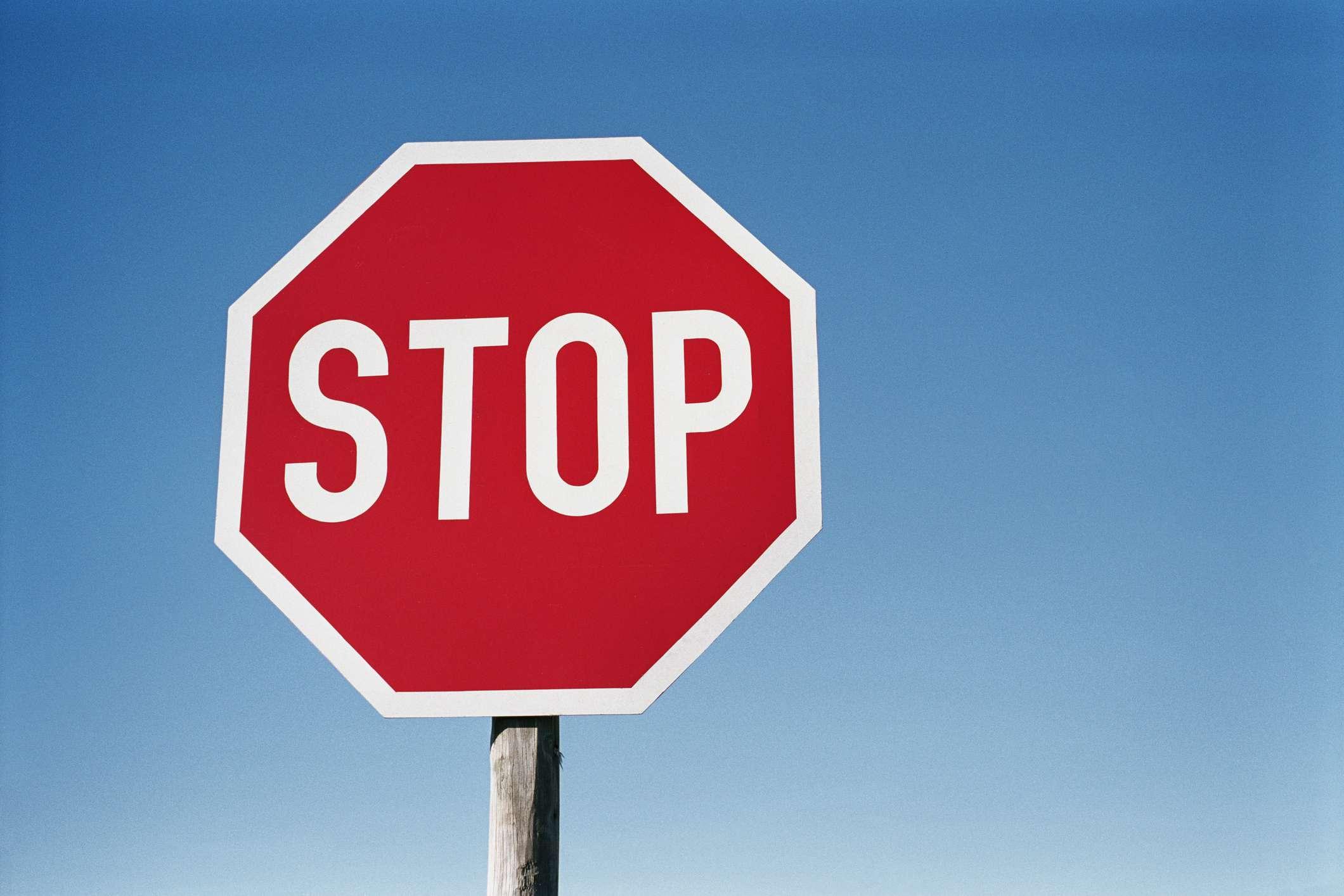 A street stop sign