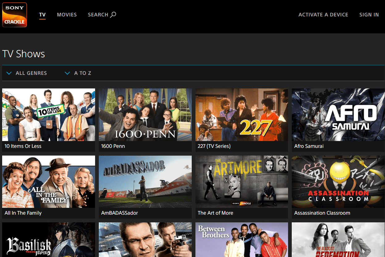 Sony Crackle: Watch Free Movies and TV Online