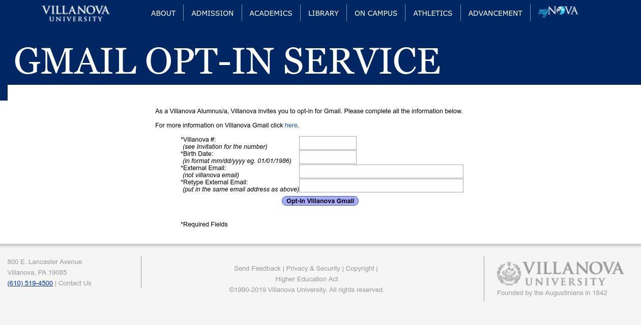 Opting-in to an alumni .edu email address