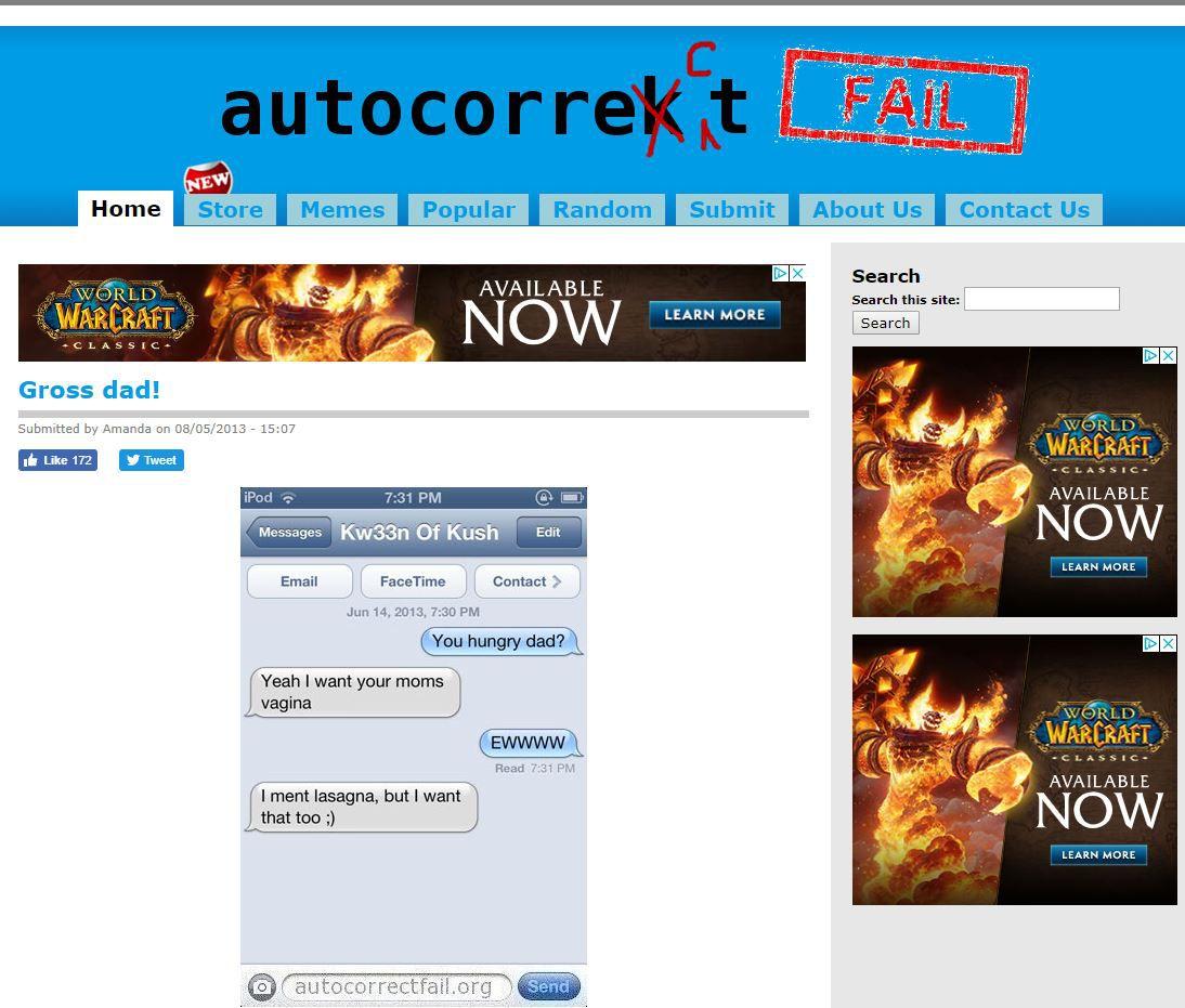 Autocorrect Fail website