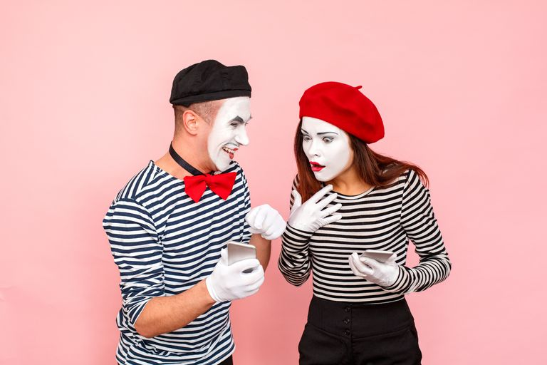 Mimes with cell phones