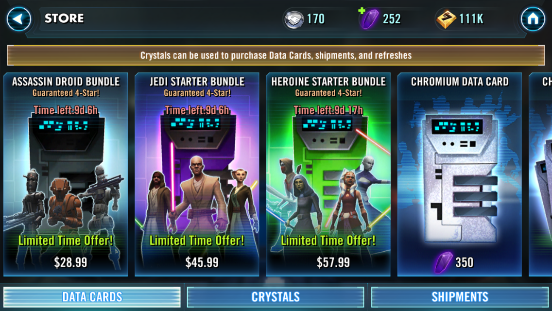 star wars galactic heroes character list