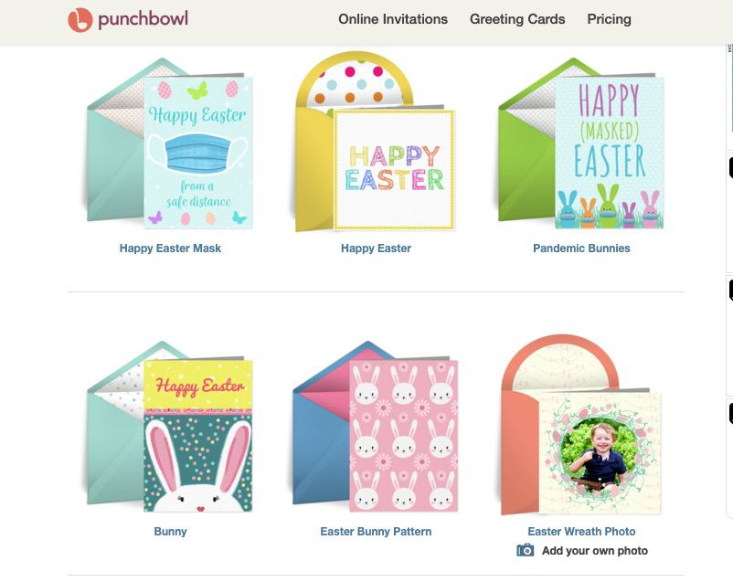 Easter E-Cards at Punchbowl
